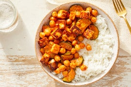Indian-Style Paneer & Creamy Tomato Curry with Jasmine Rice