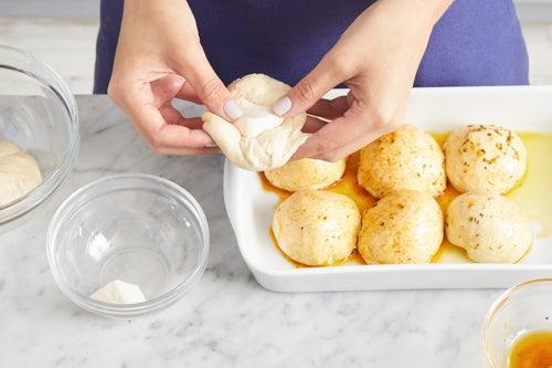 Form & bake the dinner rolls: