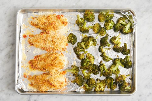 Bake the broccoli & chicken: