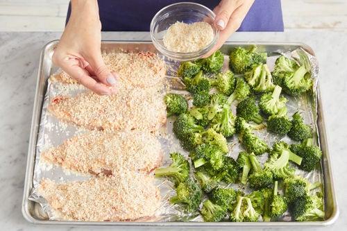 Prepare the broccoli & chicken: