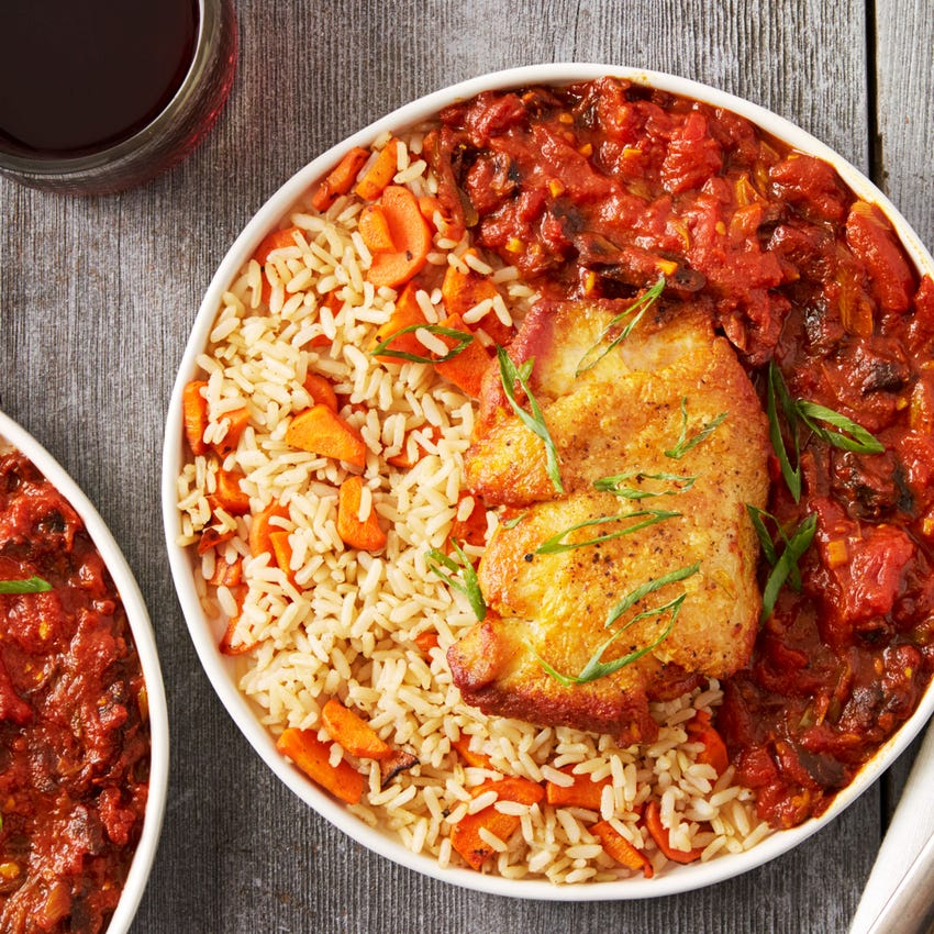 Moroccan Chicken with Prunes & Brown Rice