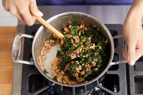 Finish the farro & serve your dish: