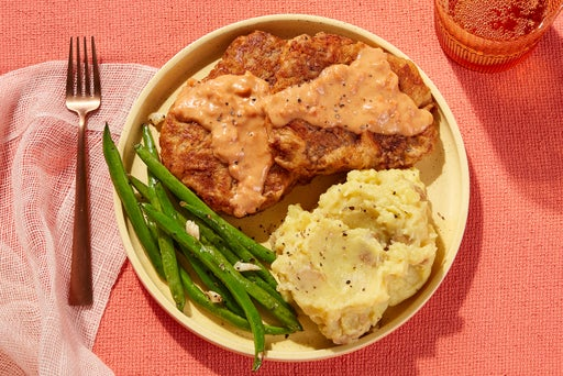 Texas-Style Chicken-Fried Steaks & Gravy with Mashed Potatoes