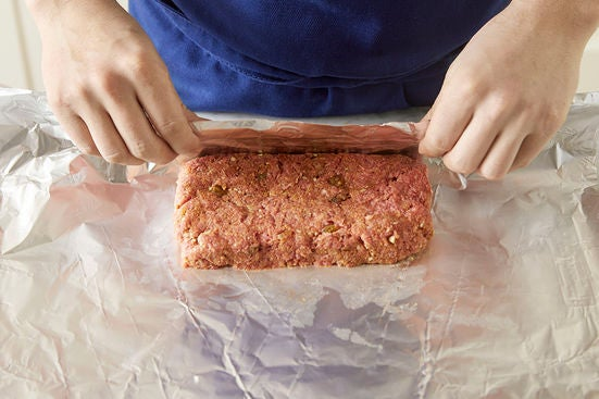 Form the meatloaf:
