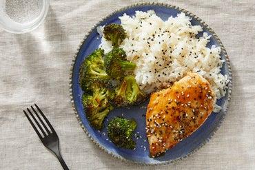 Chicken Terriyaki with Roasted Broccoli & Sesame Rice