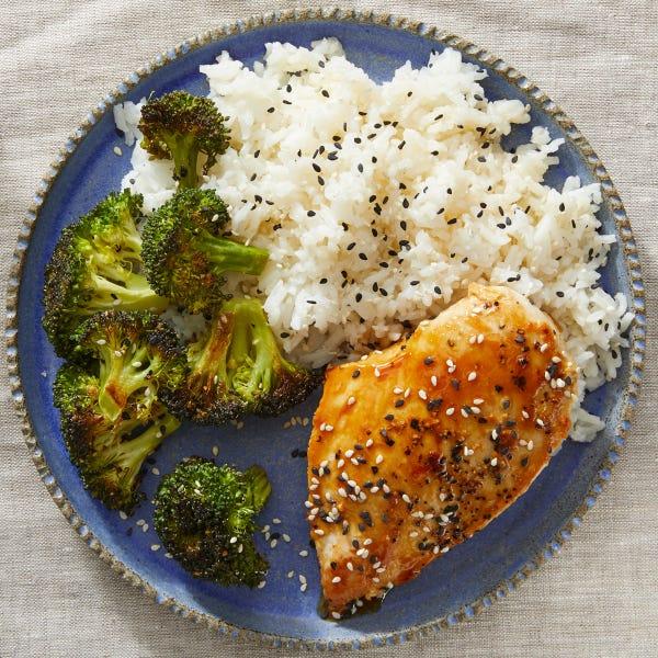 Chicken Teriyaki with Roasted Broccoli & Sesame Rice
