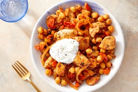 Harissa Chicken & Chickpeas with Greek Yogurt