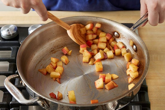 Cook the apple: