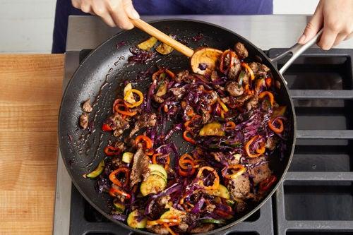 Finish the stir-fry & serve your dish:
