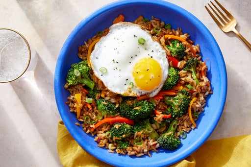 Vegetable Fried Rice with Broccoli & Sweet Peppers