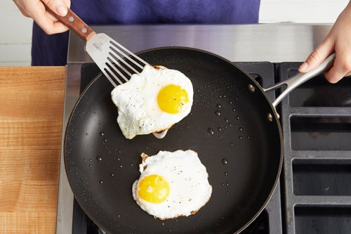 Fry the eggs & serve your dish: