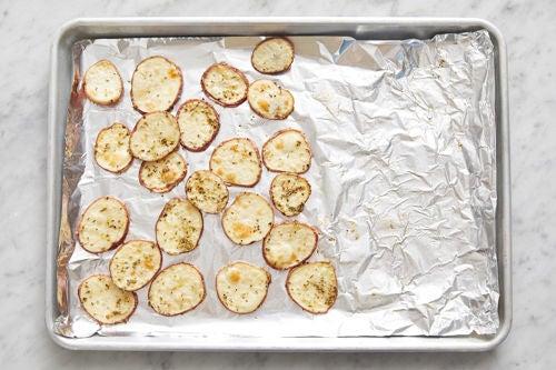 Prepare & start the potatoes:
