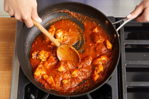 Make the curry chicken & serve your dish: