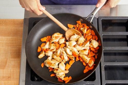 Start the chicken & vegetables: