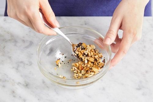 Make the furikake peanuts: