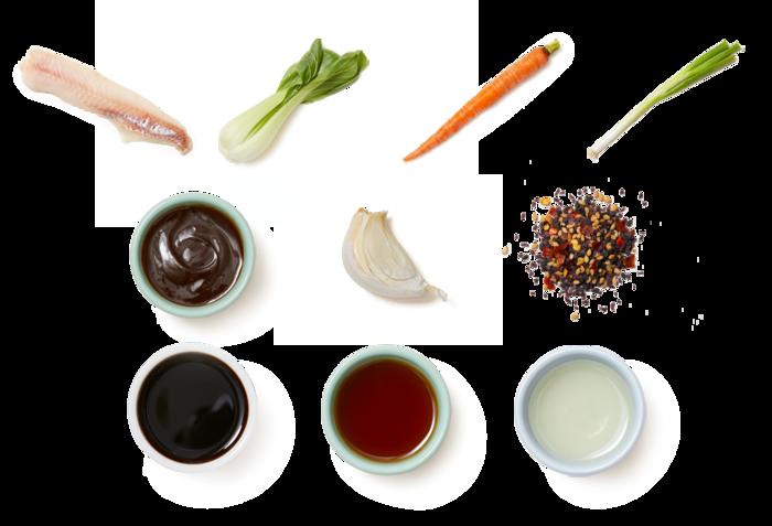 Hoisin-Glazed Wild Alaskan Pollock with Sesame Bok Choy & Carrots