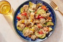 Italian Chicken & Vegetable Sauté with Grana Padano Breadcrumbs