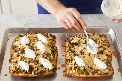 Finish the pizzas & serve your dish: