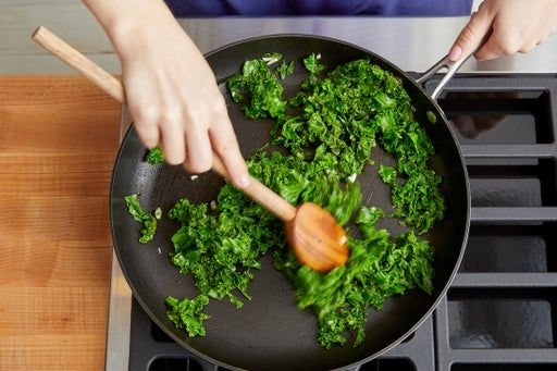 Cook the kale & serve your dish: