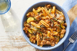 Pork & Cavatelli with Capers & Currants