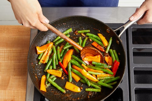 Cook & glaze the vegetables: