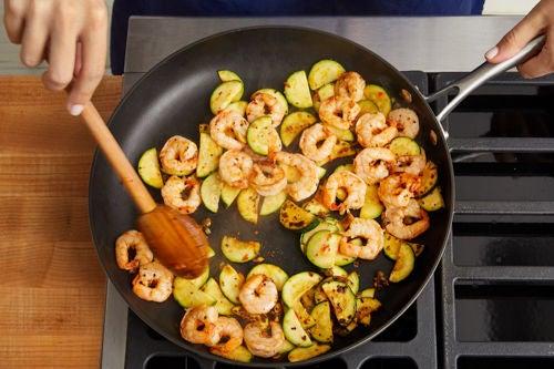Add the shrimp:
