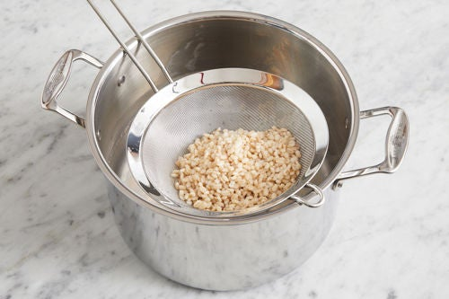 Cook the barley:
