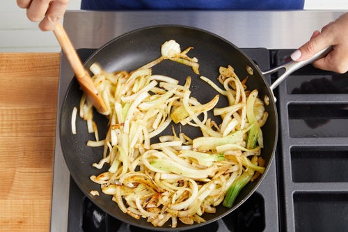 Cook the fennel & onion: