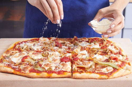 Bake the pizza & serve your dish: