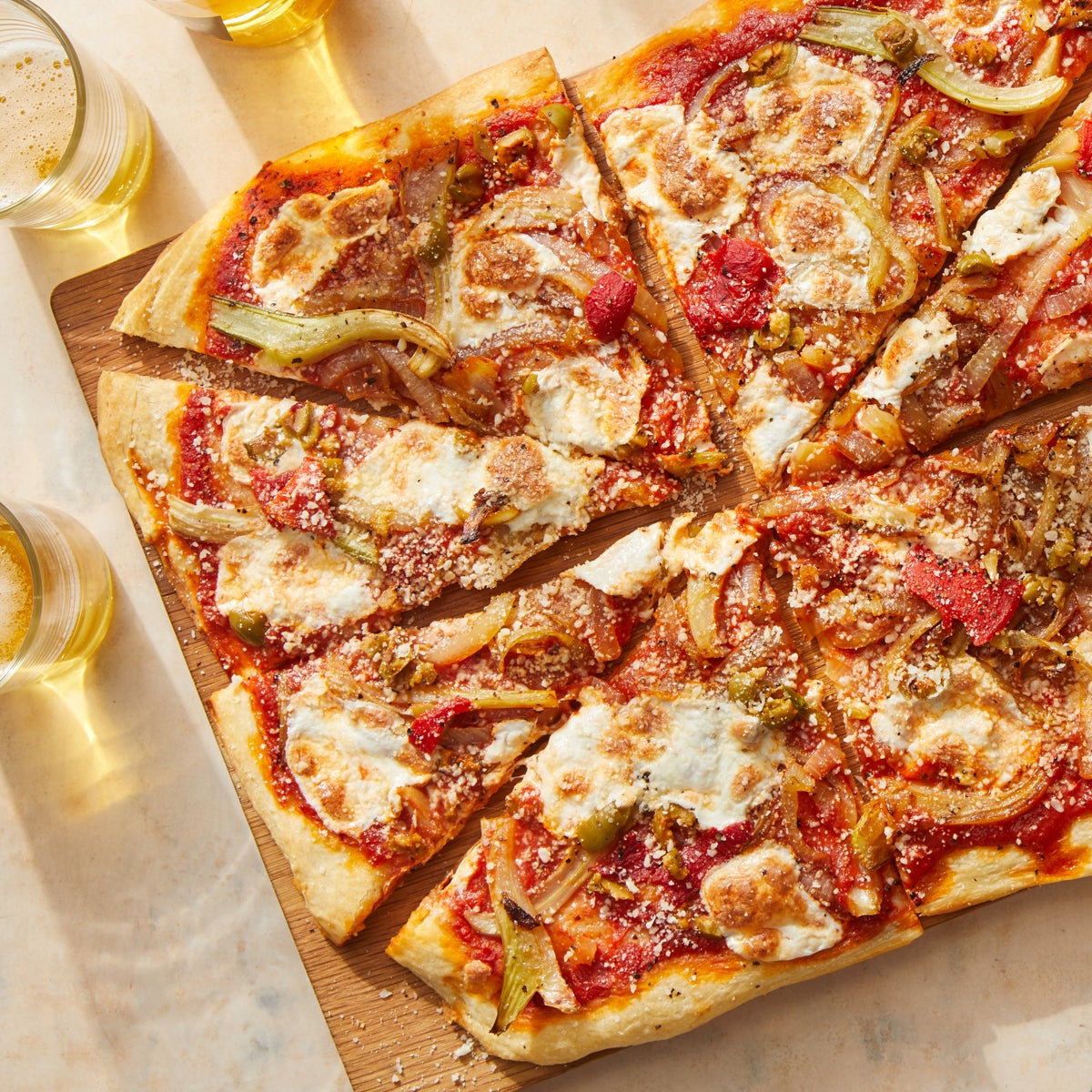 Fennel & Onion Pizza with Calabrian Chile Tomato Sauce