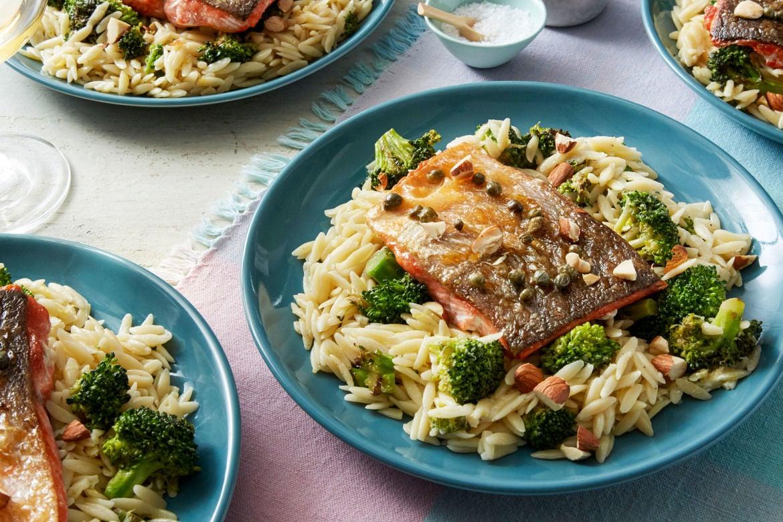 Blue apron salmon - Recipe Salmon Piccata With Orzo Broccoli Blue Apron