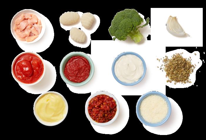 Creamy Tomato Chicken & Gnocchi with Broccoli & Parmesan