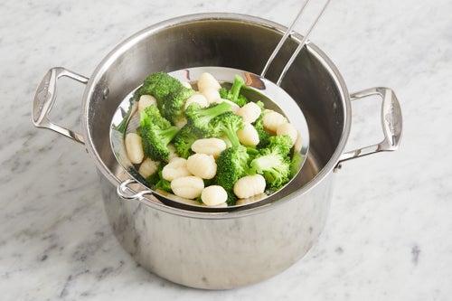 Cook the broccoli & gnocchi: