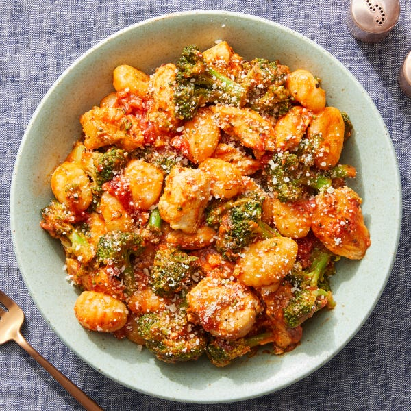Creamy Tomato Chicken & Gnocchi with Broccoli & Parmesan