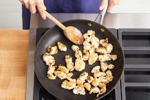 Coat & cook the chicken: