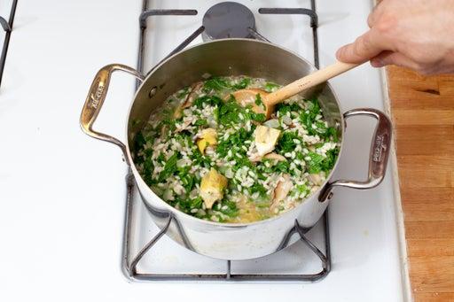 Make the risotto: