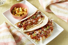 Pork & Cabbage Tacos with Pineapple & Pickled Jalapeño Salsa