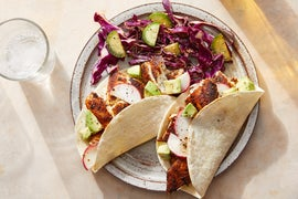 Spiced Fish Tacos with Creamy Chipotle Cabbage Slaw