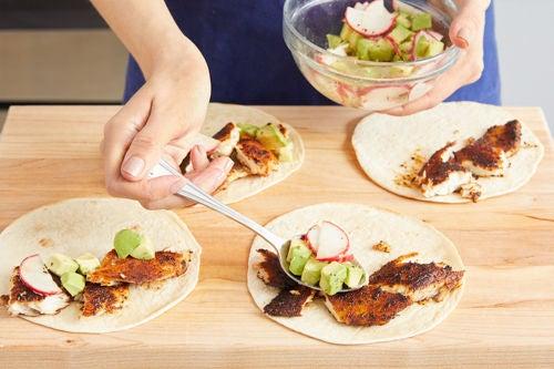 Assemble the tacos & serve your dish: