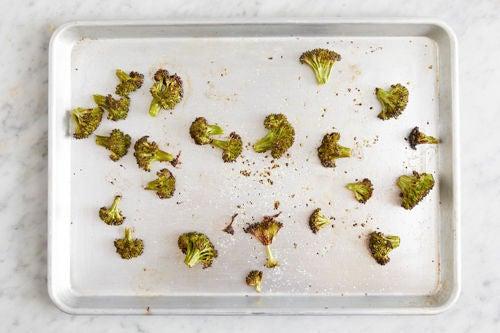 Roast & finish the broccoli:
