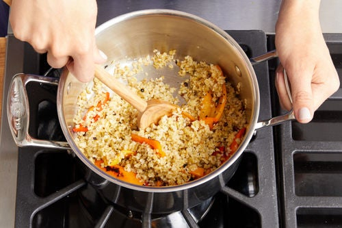 Finish the freekeh & serve your dish: