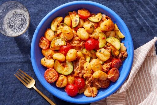 Prosciutto Gnocchi with Calabrian Chile Tomato Sauce