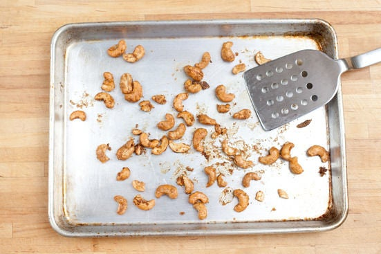 Make the spiced cashews: