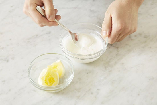 Make the lemon labneh: