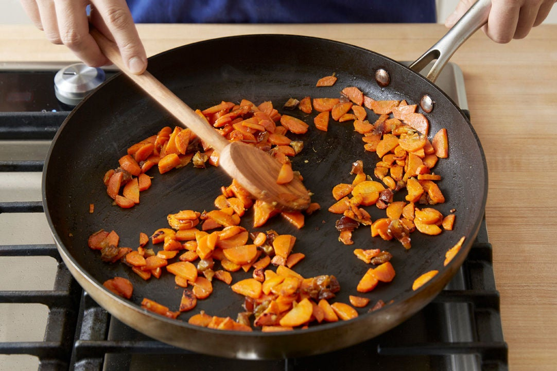 Cook & glaze the carrots: