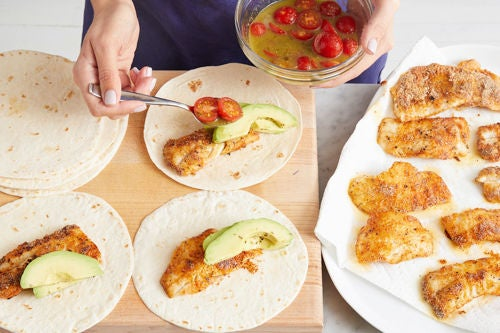 Finish the tacos & serve your dish: