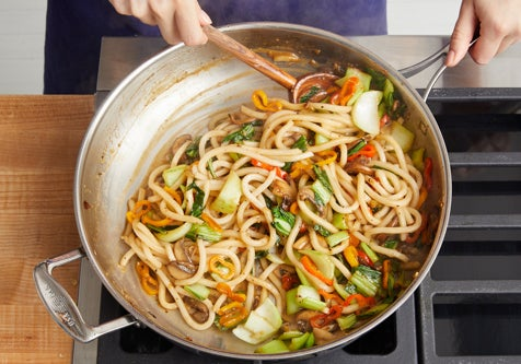 Finish the stir-fry: