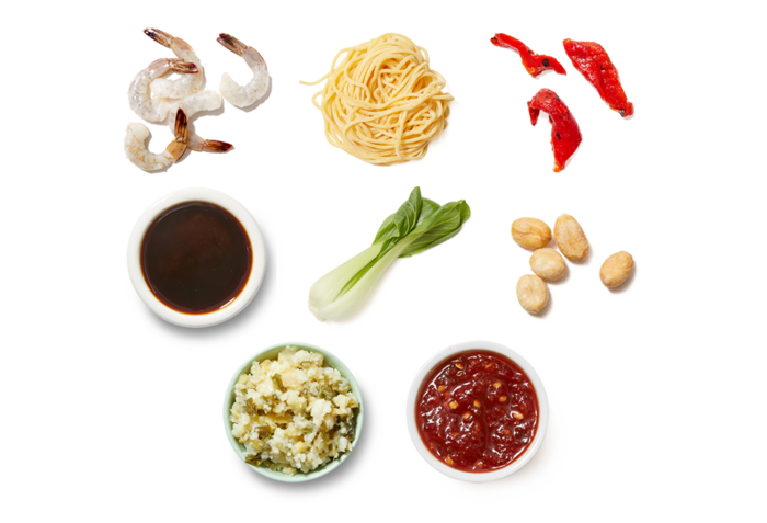 Shrimp Lo Mein with Baby Bok Choy & Peanuts