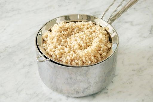 Cook the bulgur wheat:
