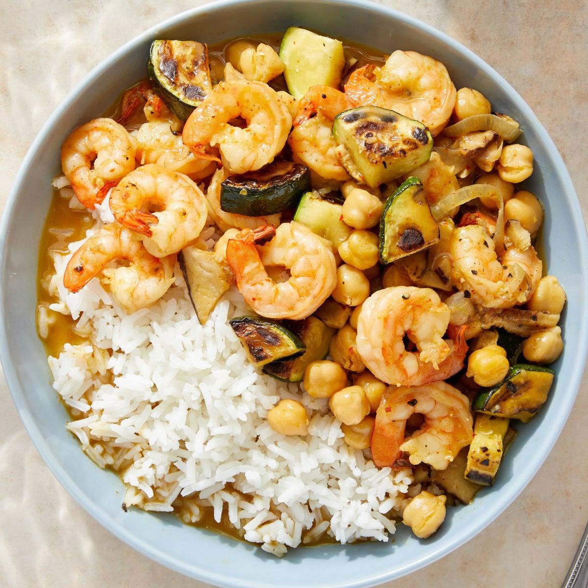 Thai-Style Coconut Shrimp Curry with Jasmine Rice